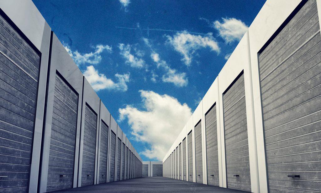 Line of storage units