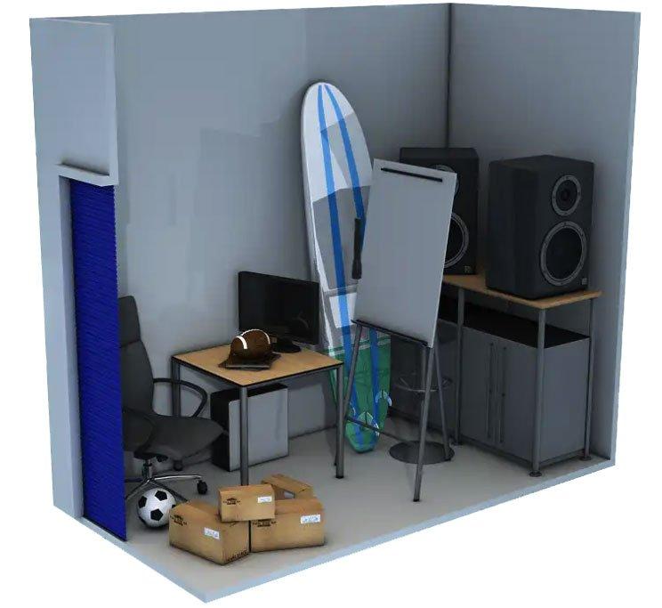 5x10 storage unit 1