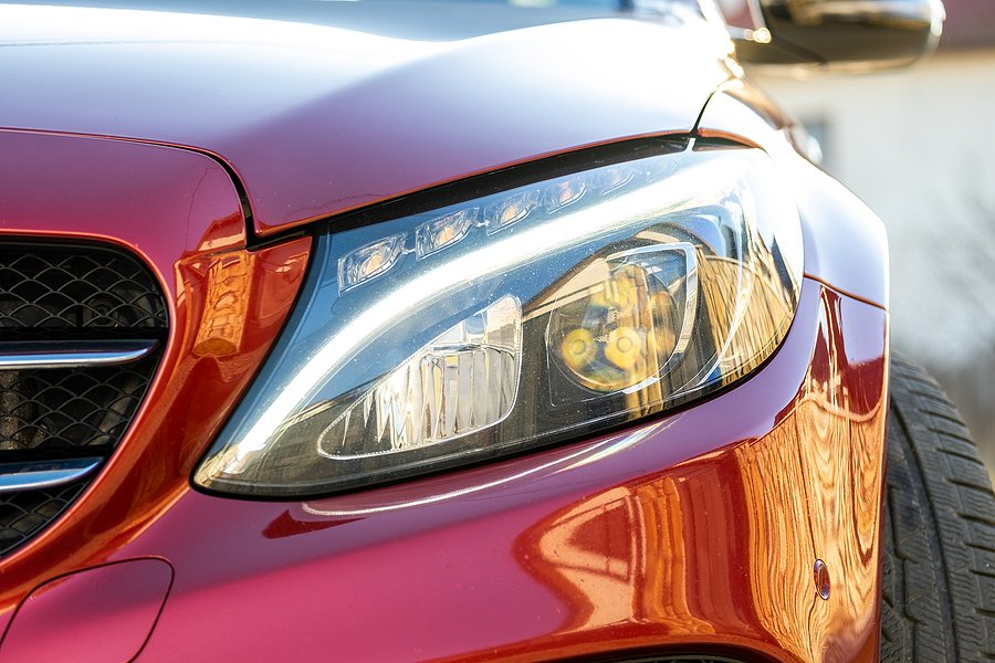 bigstock Closeup Of Front Headlight Of 404522990