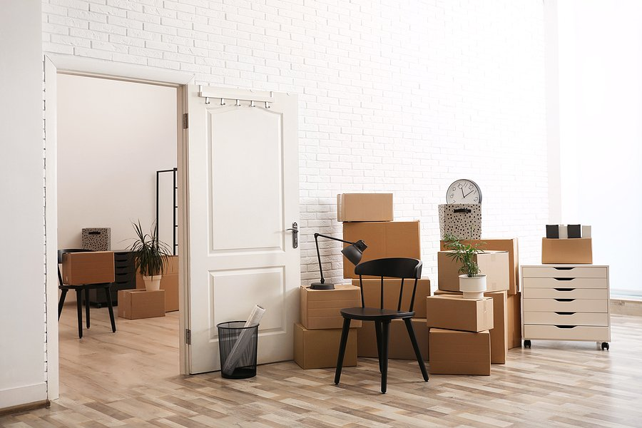 bigstock Cardboard Boxes And Furniture 427145210